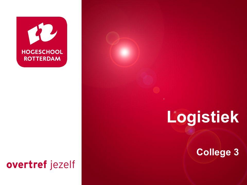 Presentatie titel Rotterdam, 00 januari 2007 Logistiek College 3