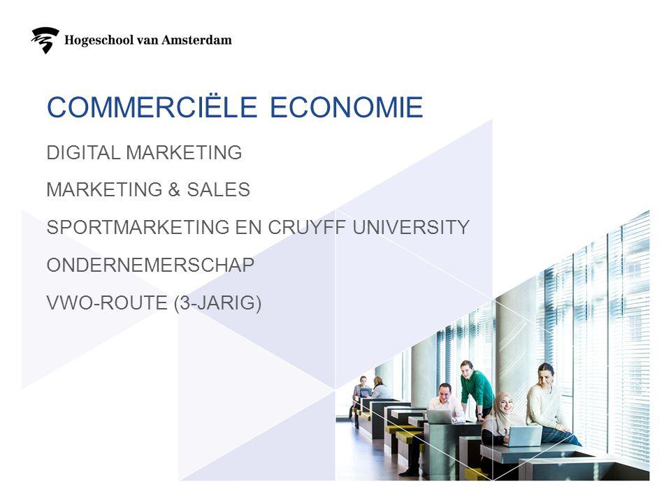 COMMERCIËLE ECONOMIE DIGITAL MARKETING MARKETING & SALES SPORTMARKETING EN CRUYFF UNIVERSITY ONDERNEMERSCHAP VWO-ROUTE (3-JARIG)