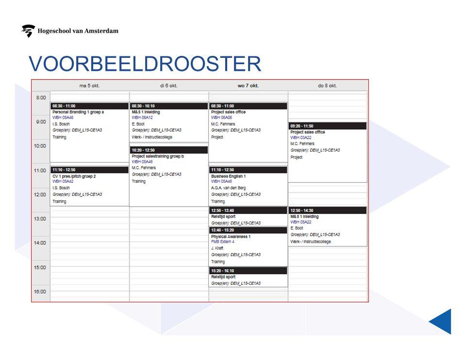VOORBEELDROOSTER