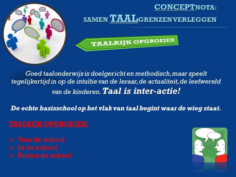 Taal is inter-actie.