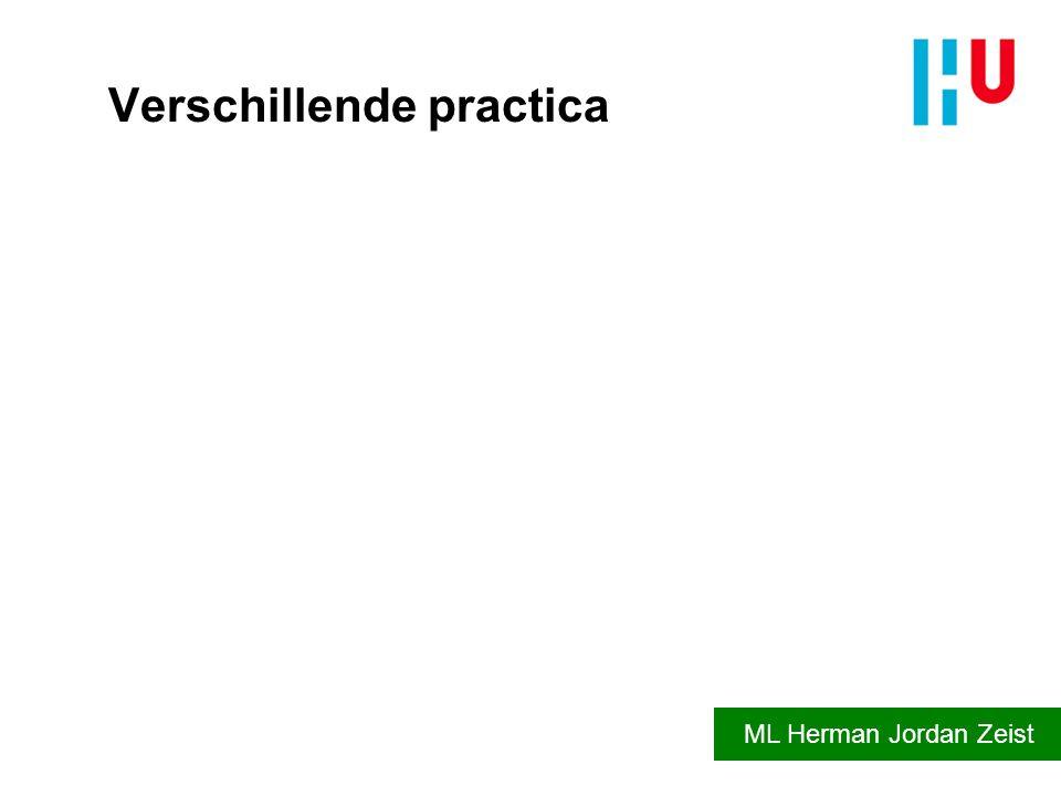 Verschillende practica ML Herman Jordan Zeist