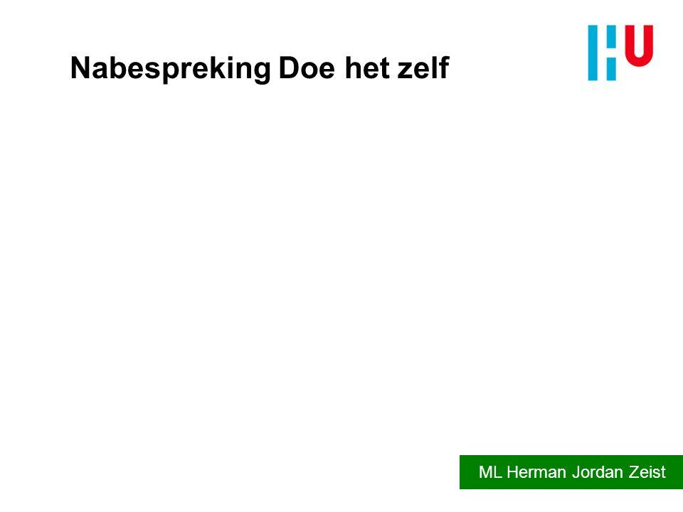 Nabespreking Doe het zelf ML Herman Jordan Zeist