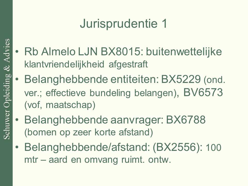 Jurisprudentie 1 Rb Almelo LJN BX8015: buitenwettelijke klantvriendelijkheid afgestraft Belanghebbende entiteiten: BX5229 (ond. ver.; effectieve bunde