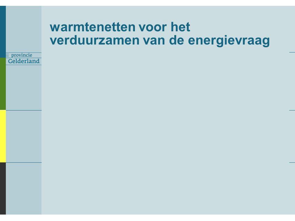 warmtenetten voor het verduurzamen van de energievraag