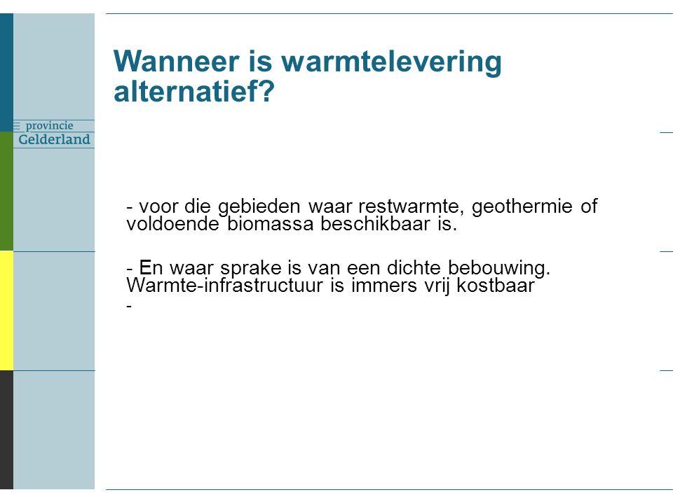 Wanneer is warmtelevering alternatief.
