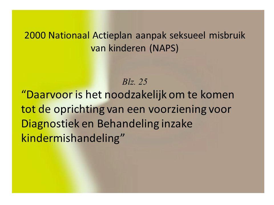 2000 Nationaal Actieplan aanpak seksueel misbruik van kinderen (NAPS) Blz.