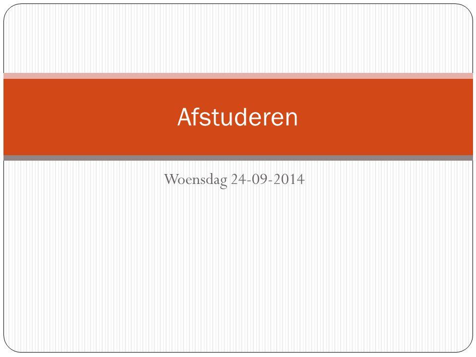 Woensdag 24-09-2014 Afstuderen