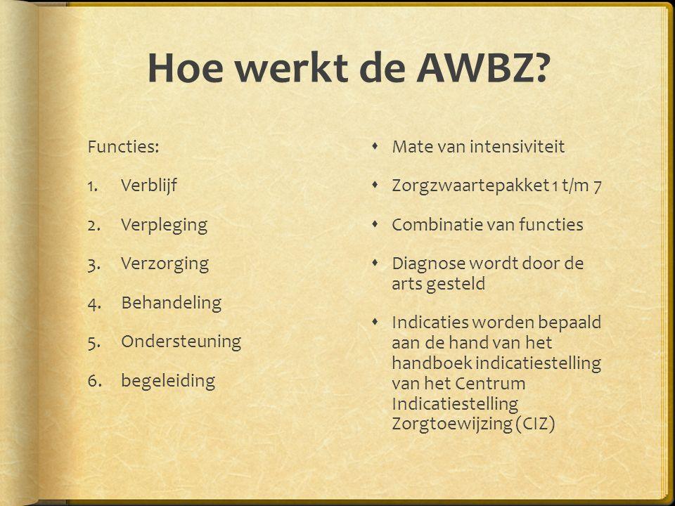 Hoe werkt de AWBZ.