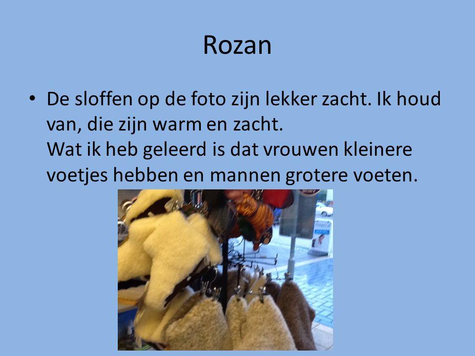 Rozan De sloffen op de foto zijn lekker zacht. Ik houd van, die zijn warm en zacht. Wat ik heb geleerd is dat vrouwen kleinere voetjes hebben en manne