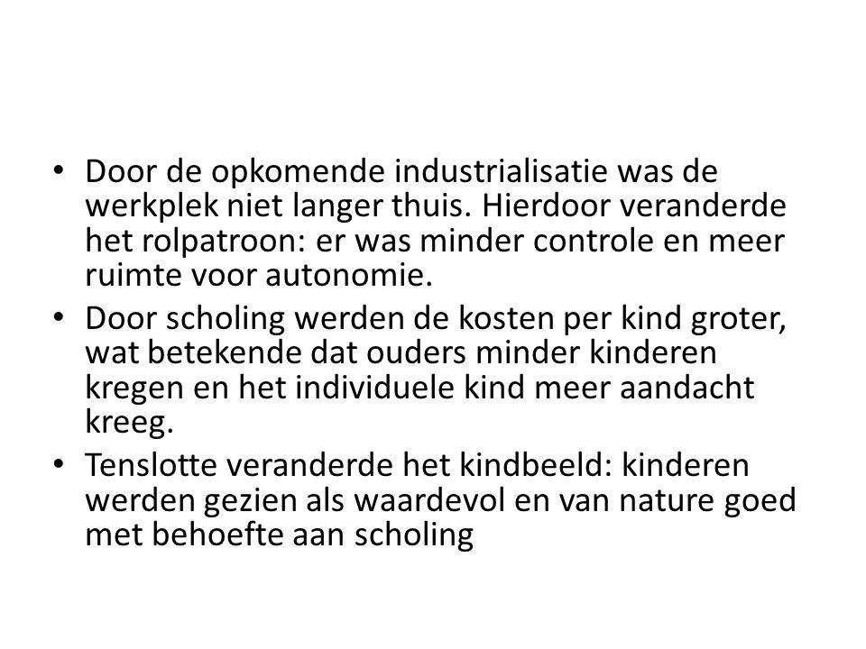 Door de opkomende industrialisatie was de werkplek niet langer thuis.
