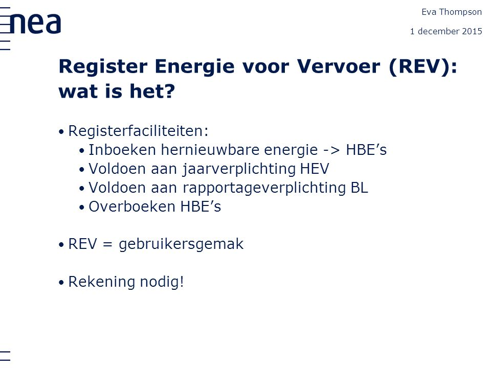 Register EV: het Home scherm Eva Thompson 1 december 2015