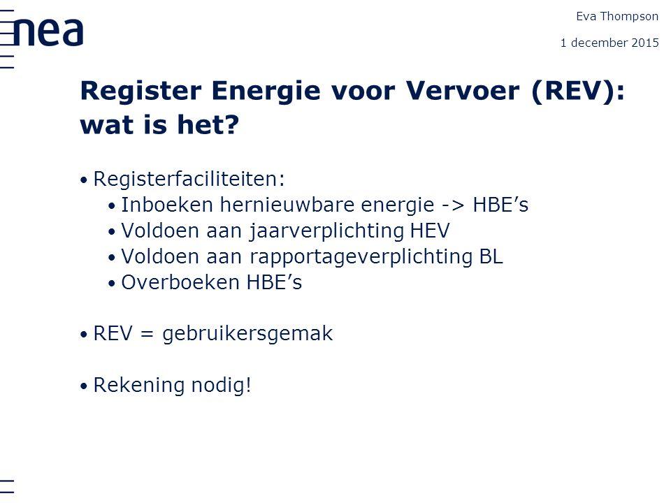 Register Energie voor Vervoer (REV): wat is het.