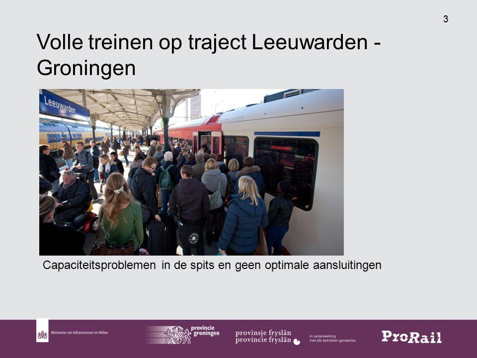 3 Volle treinen op traject Leeuwarden - Groningen Capaciteitsproblemen in de spits en geen optimale aansluitingen