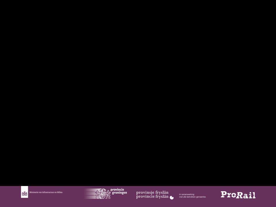 8 Context van het project ESGL  Ministerie IenM formeel opdrachtgever (zuiderzeelijn gelden)  Inhoudelijk opdrachtgevers zijn provincies Fryslân en Groningen  ProRail aanbestedende dienst en uitvoerder  Programma Noord Nederland  Tracéwet plichtig (publicatie OTB gepland in augustus 2015, TB 1 jaar later)  € 137 miljoen excl.