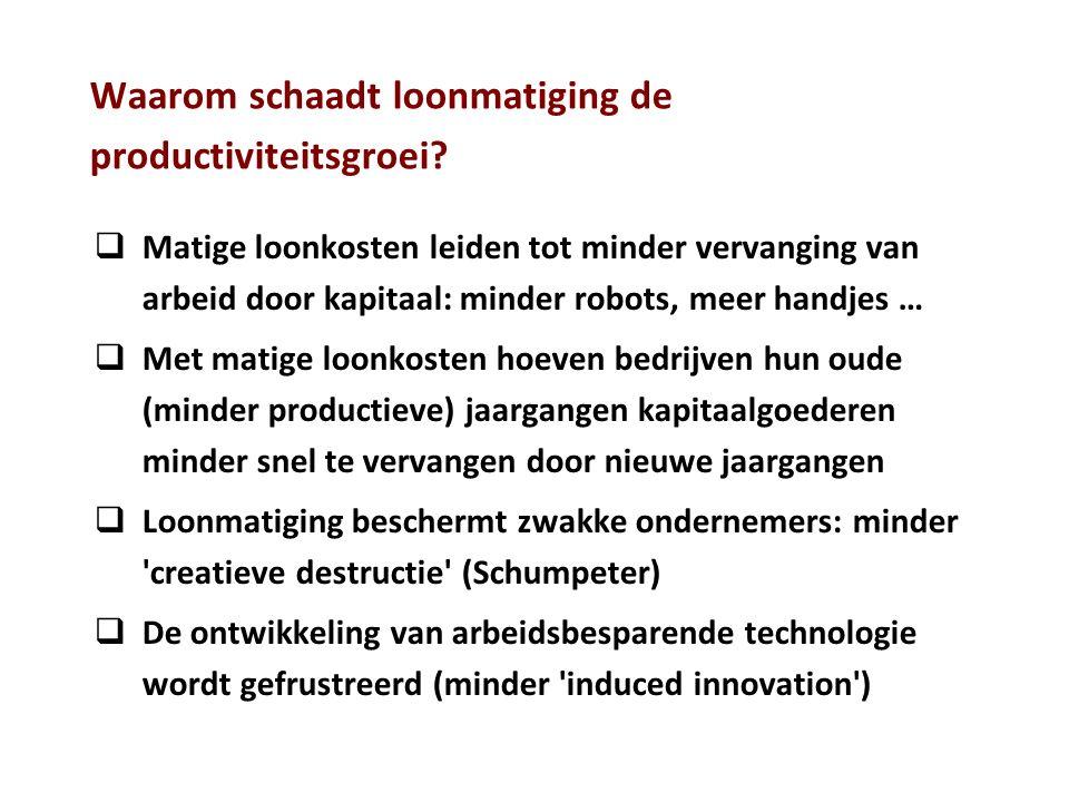 Waarom schaadt loonmatiging de productiviteitsgroei.