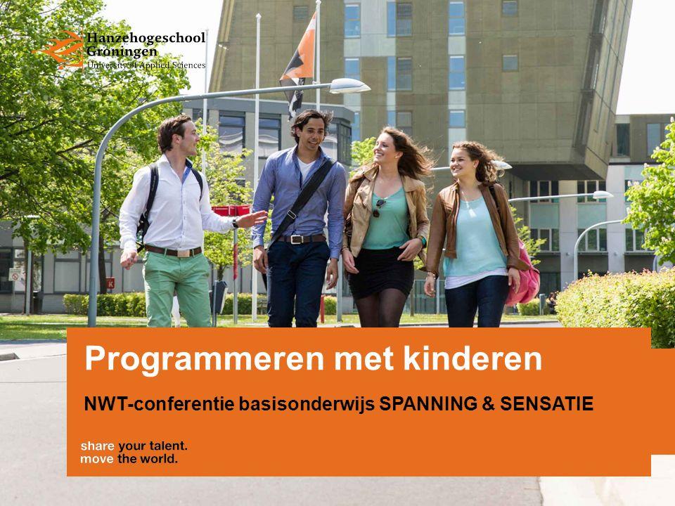 Programmeren met kinderen NWT-conferentie basisonderwijs SPANNING & SENSATIE