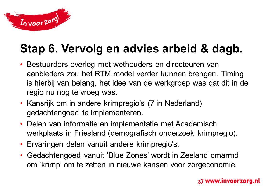 Stap 6.Vervolg en advies arbeid & dagb.