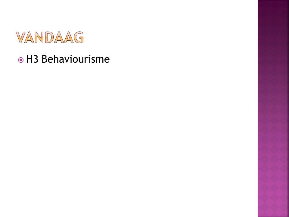  Stimulusdiscriminatie Onderscheid maken: bang voor witte konijnen, maar niet voor bruine  Stimulusgeneralisatie Geen onderscheid maken: bang voor witte konijnen en ook voor witte ratten  Contiguïteit Ongeconditioneerde en geconditioneerde stimulus volgen elkaar snel op in tijd  Extinctie Uitdoving wanneer de geconditioneerde stimulus herhaaldelijk wordt aangeboden zonder de ongeconditioneerde stimulus