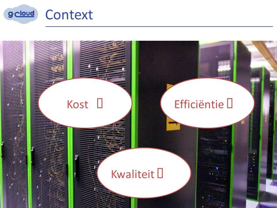 Context 3 Efficiëntie  Kost  Kwaliteit 