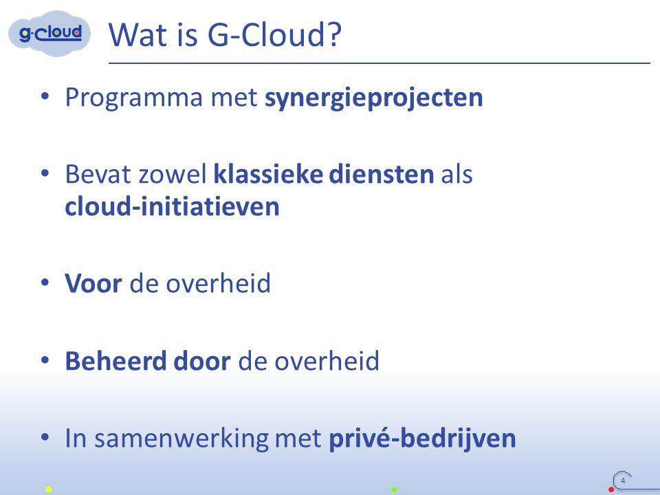 Operational Cloud Governance Board PICTS SIT Audit & Controle ICT Monitoring Regering Huidige G-Cloud organisatie Werkgroepen G-Cloud Services Technische Projecten 15