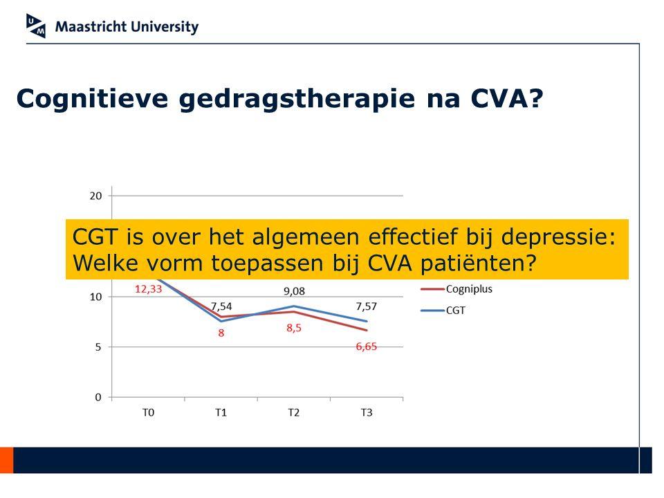 Cognitieve gedragstherapie na CVA? CGT is over het algemeen effectief bij depressie: Welke vorm toepassen bij CVA patiënten?