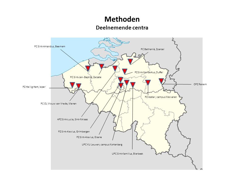 Methoden Deelnemende centra PC Sint-Amandus, Beernem PC OL Vrouw van Vrede, Menen PZ Heilig Hart, Ieper PC Sint-Jan- Baptist, Zelzate APZ Sint-Lucia,