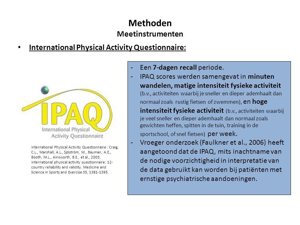 International Physical Activity Questionnaire: International Physical Activity Questionnaire : Craig, C.L., Marshall, A.L., Sjöström, M., Bauman, A.E.