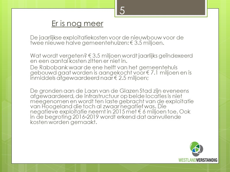 Wethouder Meijer: Waarom is het nodig één nieuw gemeentehuis te bouwen.