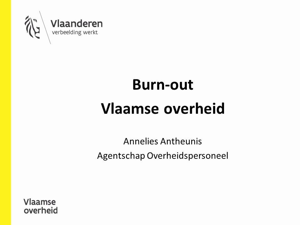 Burn-out Vlaamse overheid Annelies Antheunis Agentschap Overheidspersoneel