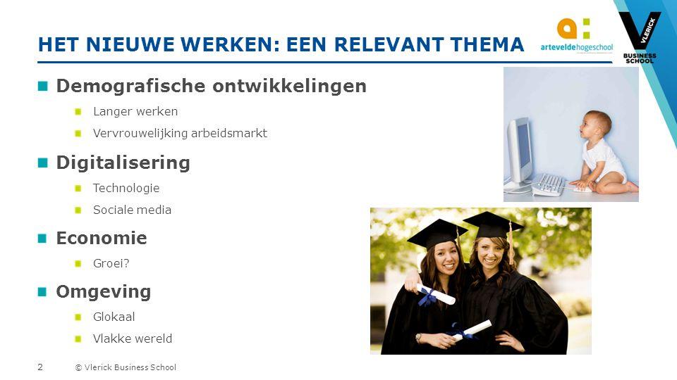 © Vlerick Business School ELKE MEDEWERKER HEEFT EEN FLEXSTIJL I am a worker for the company during business hours.
