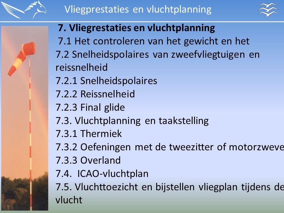 Vliegprestaties en vluchtplanning 7.