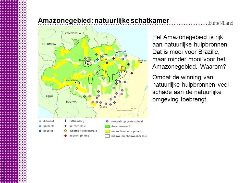 Amazonegebied: natuurlijke schatkamer Het Amazonegebied is rijk aan natuurlijke hulpbronnen.