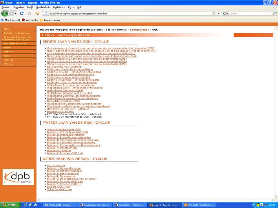 """Materiaal ter beschikking op website van DPB Gent - http://www.kogent.behttp://www.kogent.be - """"Sitemap"""" - Diocesane Pedagogische Begeleidingsdienst ("""