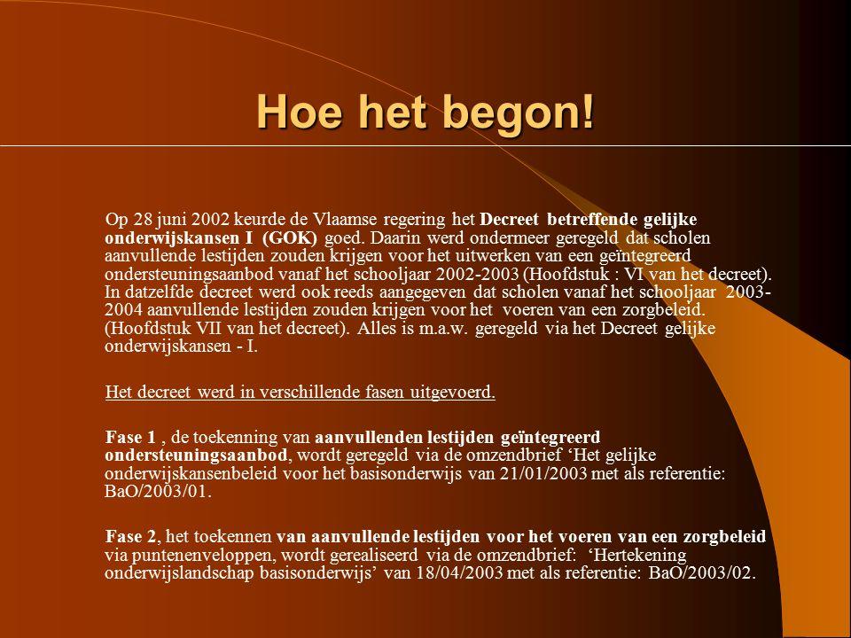 Stand van zaken in de GOK³: lestijden in het Bisdom Gent (3) Stand van zaken in de GOK³: lestijden in het Bisdom Gent (3) Aantal lestijden < of = 10 1
