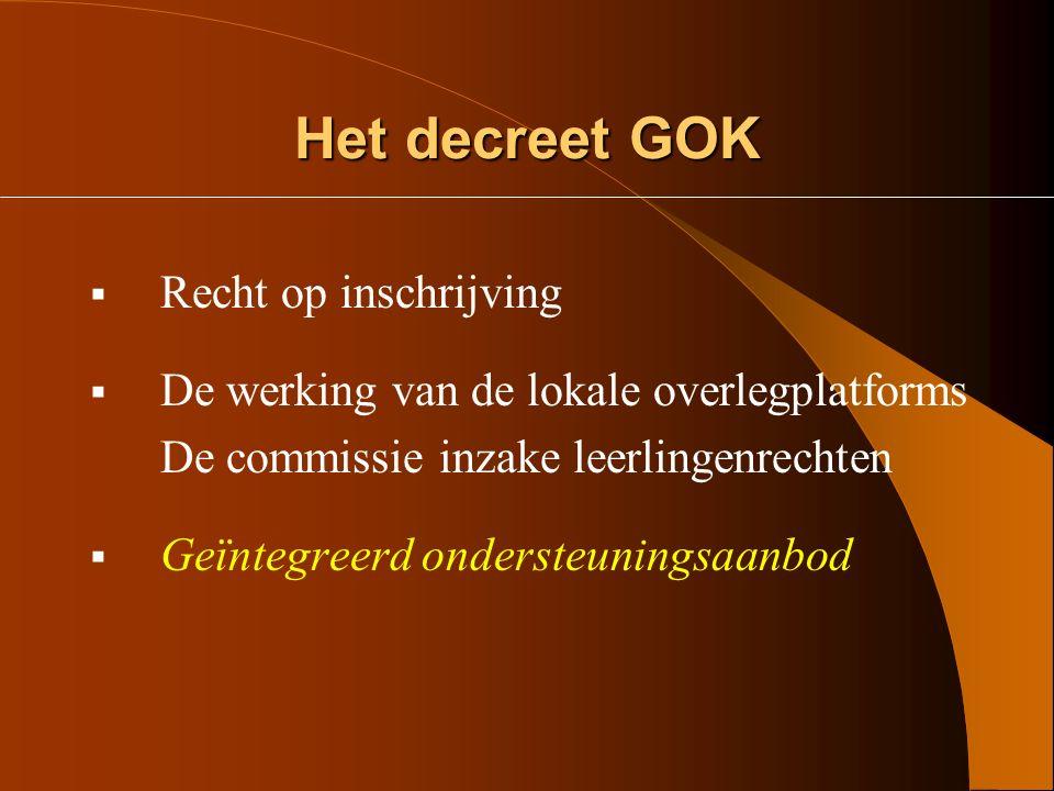 Hoe het begon! Op 28 juni 2002 keurde de Vlaamse regering het Decreet betreffende gelijke onderwijskansen I (GOK) goed. Daarin werd ondermeer geregeld