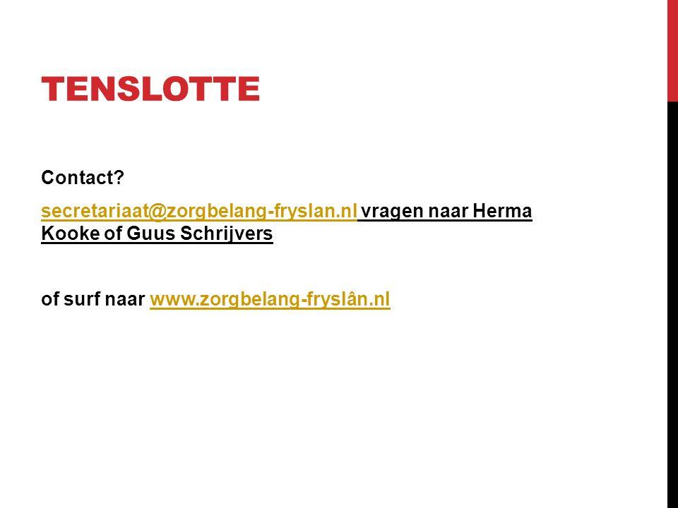 TENSLOTTE Contact.