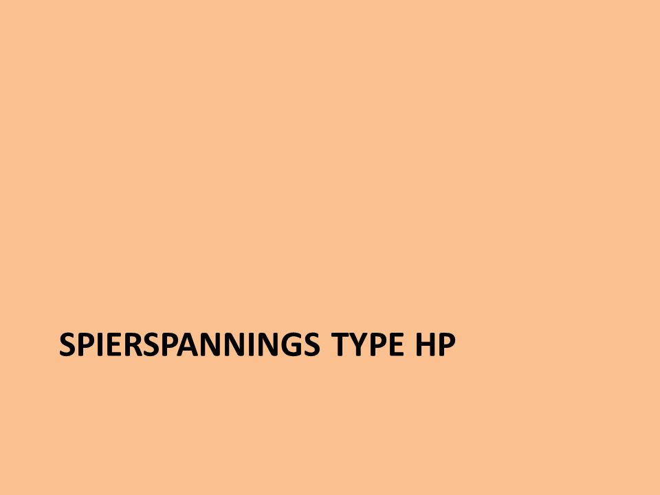SPIERSPANNINGS TYPE HP