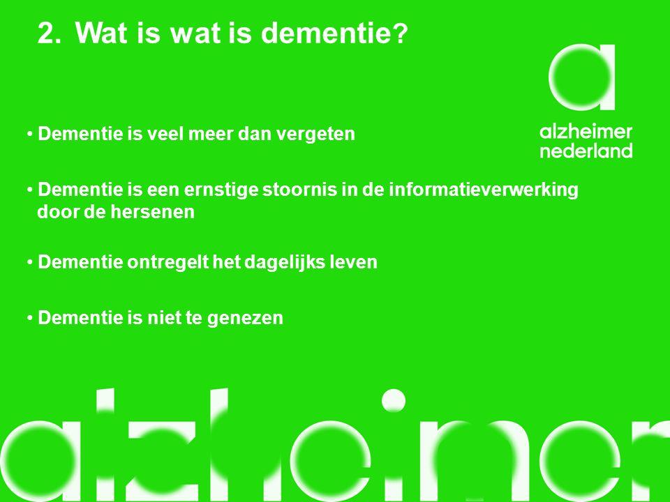Veel gestelde vraag: Is dementie hetzelfde als de ziekte van Alzheimer?