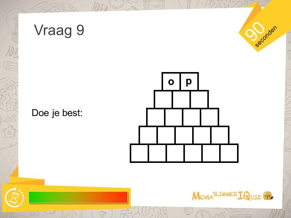 Voorbereiding vraag 9 In de woordpiramide hiernaast wordt telkens per regel één nieuwe letter toegevoegd.