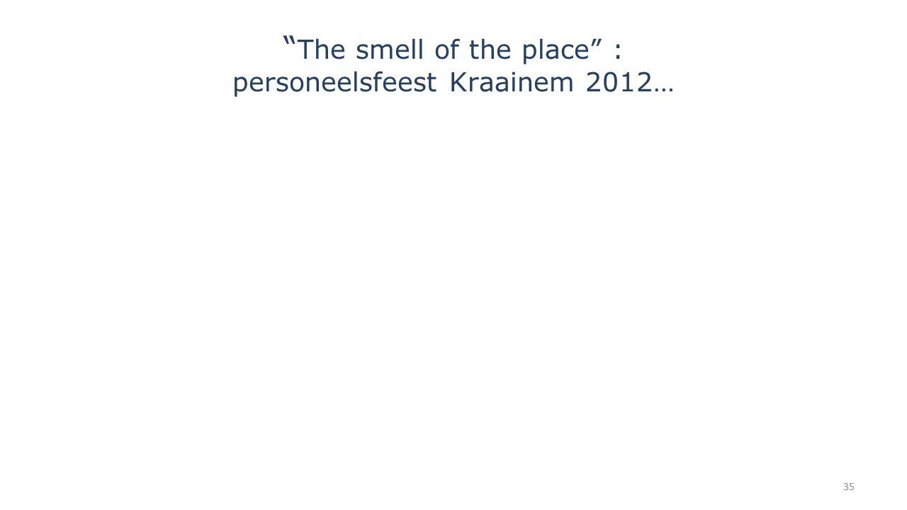 """ The smell of the place"" : personeelsfeest Kraainem 2012… 35"