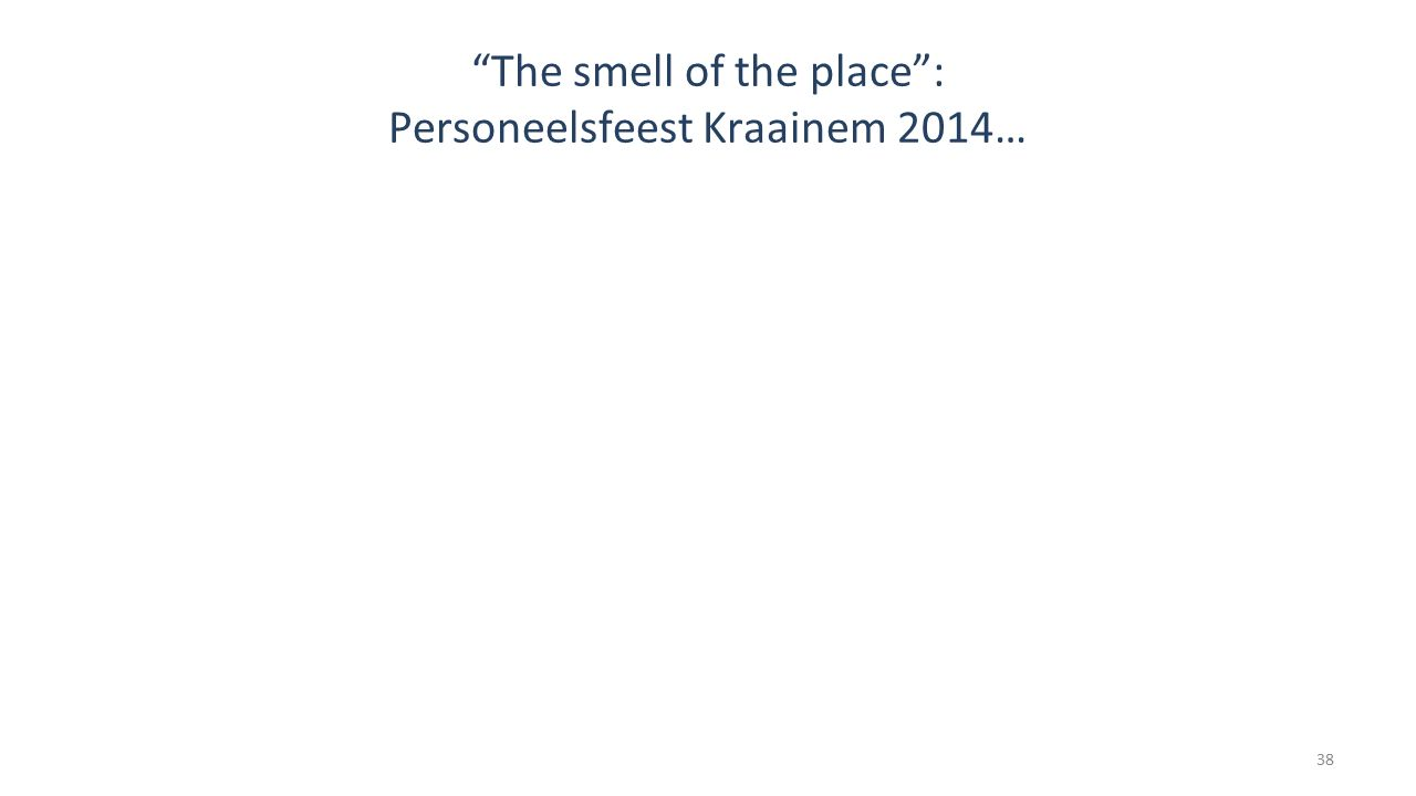 """The smell of the place"": Personeelsfeest Kraainem 2014… 38"