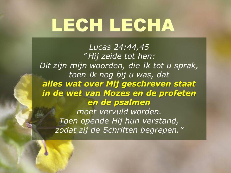 Lucas 24:44,45 Hij zeide tot hen: Dit zijn mijn woorden, die Ik tot u sprak, toen Ik nog bij u was, dat alles wat over Mij geschreven staat in de wet van Mozes en de profeten en de psalmen moet vervuld worden.