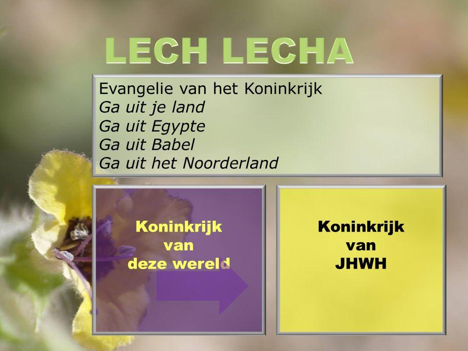 Evangelie van het Koninkrijk Ga uit je land Ga uit Egypte Ga uit Babel Ga uit het Noorderland Koninkrijk van JHWH Koninkrijk van deze wereld