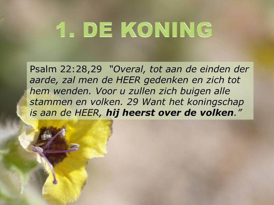 Psalm 22:28,29 Overal, tot aan de einden der aarde, zal men de HEER gedenken en zich tot hem wenden.