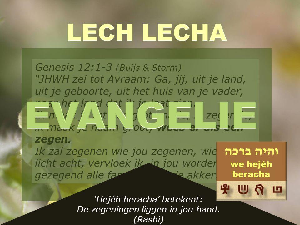Baroech ata: Gezegend bent U/U bent de bron van zegen 'Hejéh beracha' betekent: De zegeningen liggen in jou hand.