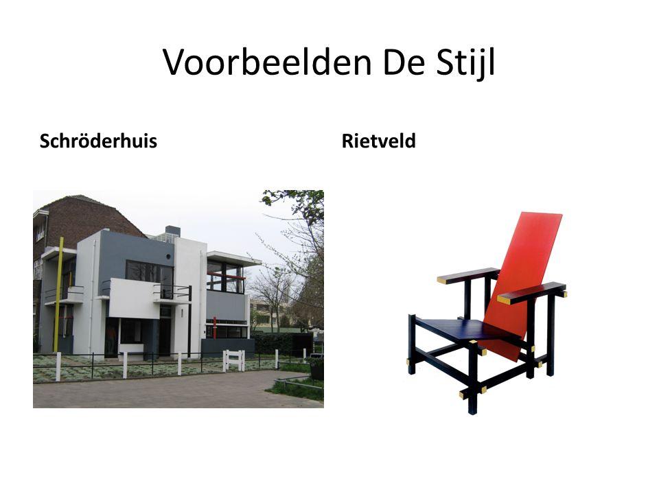 Voorbeelden De Stijl SchröderhuisRietveld