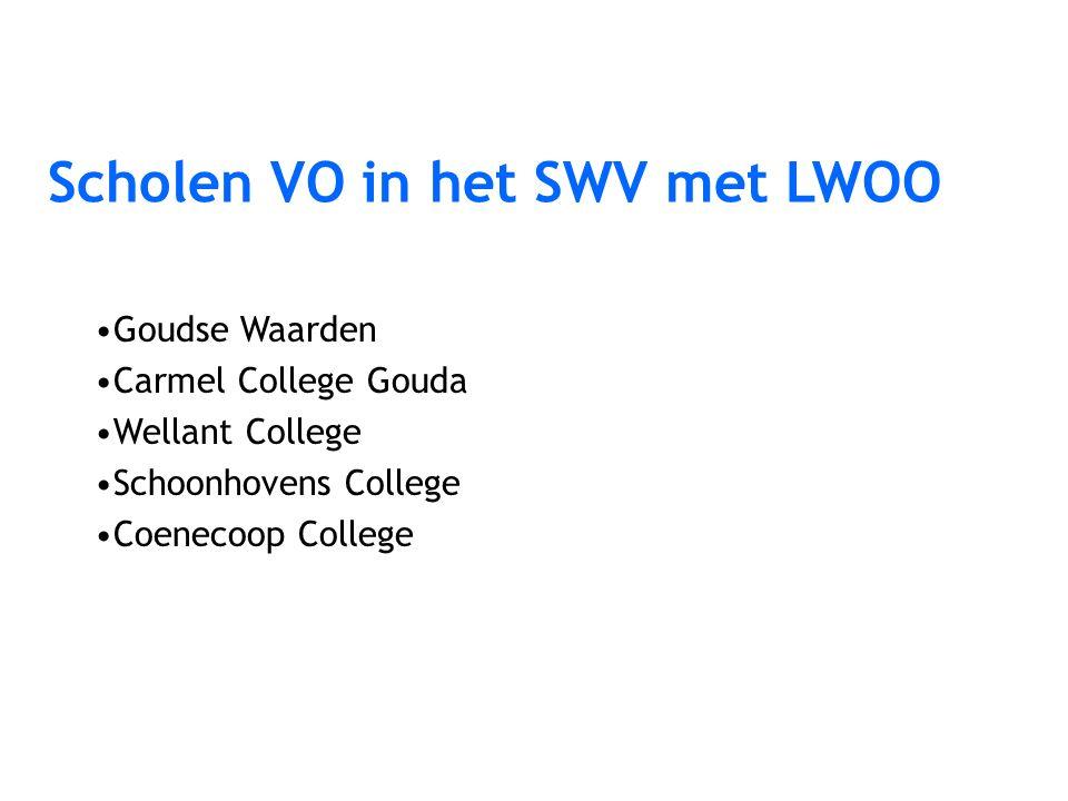 Goudse Waarden Carmel College Gouda Wellant College Schoonhovens College Coenecoop College Scholen VO in het SWV met LWOO