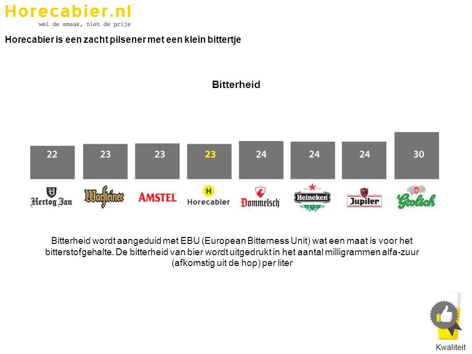 Bitterheid wordt aangeduid met EBU (European Bitterness Unit) wat een maat is voor het bitterstofgehalte. De bitterheid van bier wordt uitgedrukt in h