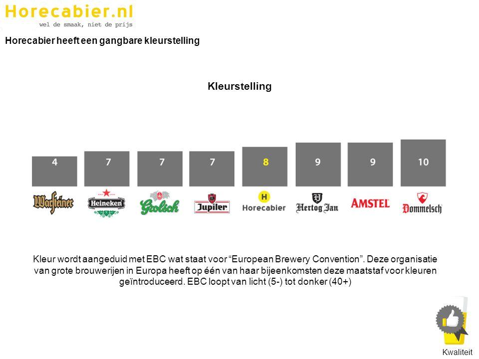 """Kleur wordt aangeduid met EBC wat staat voor """"European Brewery Convention"""". Deze organisatie van grote brouwerijen in Europa heeft op één van haar bij"""