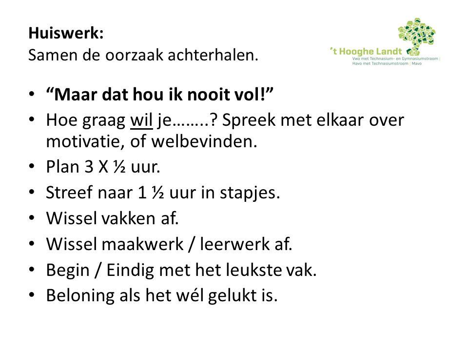 Overhoring: Vraag 2.De Repetitie Wiskunde van Tineke.